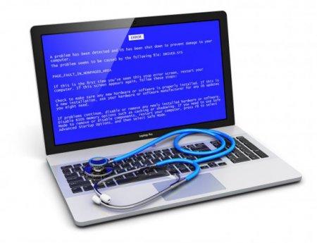 Синий экран на ноутбуке